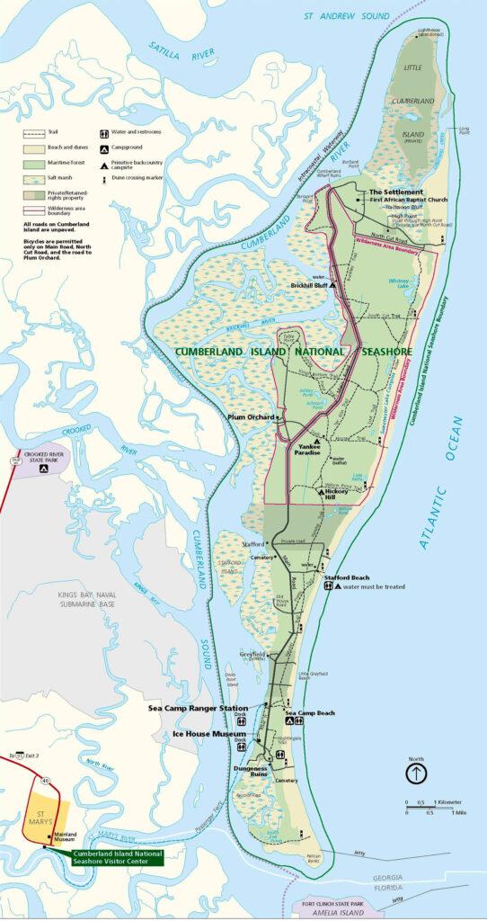 Cumberland Island Map